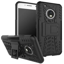 Tire Tough Rugged Dual Hybrid Hard Stand Armor Case Cover For Motorola Moto X 2017 G4 G5 Play Plus Z Driod Force E3 Power M(China)