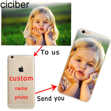 Custom Phone Case for iphone 7 6 5s 6s se 5 plus Design DIY Name Picture Couqe Silicone TPU Soft Transparent Clear Ultra Thin