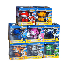 4/8Pcs Set!!! Super Wings 15cm Big Planes Deformation Airplane Robot Action Figures Transformation Toys Boys Birthday Gift Full(China)