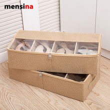 Mensina Thick transparent shoebox bed containing boots shoes bag combined shoes shoes boots storage box(China)