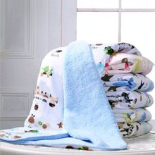 1 PC Baby Toys 2017 Autumn Winter Thick Soft Warm Cotton Cashmere Baby Blanket Bedding Wrap Play Mats Baby Toys 76*102cm(China)