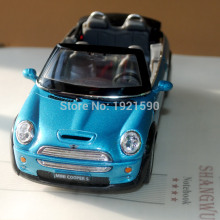 Brand New KT 1/28 Scale Germany MINI Cooper S Convertible Diecast Metal Pull Back Car Model Toy For Gift/Collection/Kids