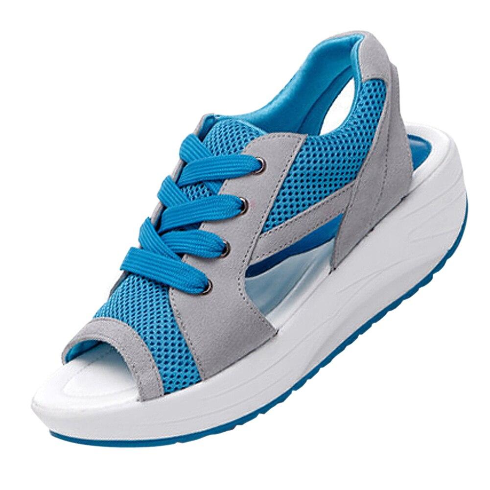 ASDS Ladies Platform Sandales Sandalias Summer New Fish Head Sandals Womens Shoes Slope With Platform Muffin<br><br>Aliexpress
