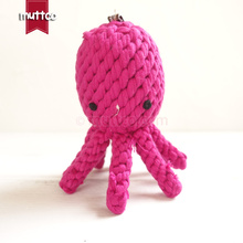 100pcs/lot wholesale high quality rose octopus dog pet toy cotton rope toy dog rope toy DRT-018(China)