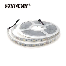 SZYOUMY RGBW/RGBWW Silicone Tube Waterproof IP67 5M 5050 300LEDs Flexible LED Strip Light DC12V Ribbon Tape for Party Decoration(China)