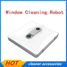 Smart wet and dry 2in1 window cleaner , Window cleaning robot for glass,walls,tables floors ,other planes with remote control(China)