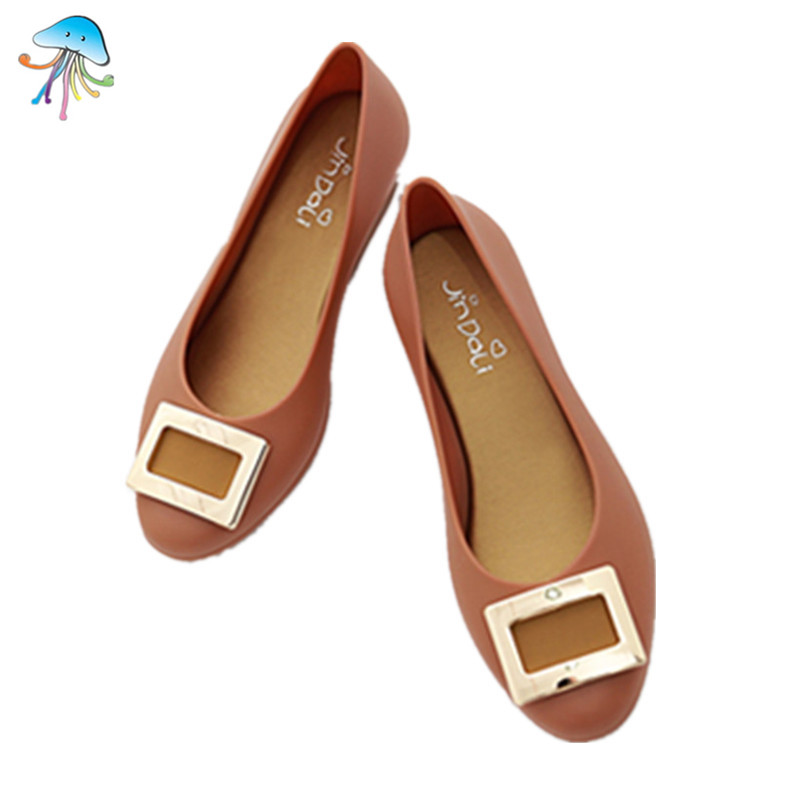 New Summer Beach Women Shoes Fashion Comfortable Leisure Jelly Shoes Women Flat Sandals Peep Toe Slip On Women Casual Shoe<br><br>Aliexpress