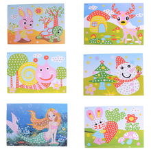 15 styles DIY 3D Mosaics Creative Sticker for Kids EVA Educational Toy Game Animals Transport Arts Craft Puzzle(China)