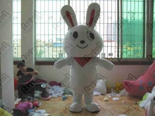 red scarf bunny mascot costumes big head rabbit and bear costumes