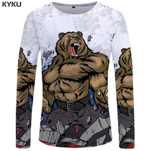Buy KYKU Bear Long sleeve T shirt Arctic 3d T-shirt Russia Clothes Military Clothing Tshirt Tops Tees Women Hip Hop Woman Female for $7.96 in AliExpress store