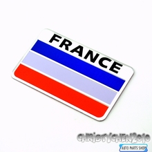 Rhino Tuning France Flag Car Badge Emblem Sticker Auto Side Wing Boot Trunk For 500 FIESTA YARIS Duster 327