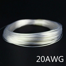 1m 20AWG Silver plated cable Teflon OD 1.5mm headphone cable DIY earphone wire audio cable high temperature wire 9 colors