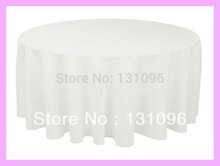 10ps Quality White 300cm Round Polyester Plain Table Cloth, Round Table Cloth COver For Wedding Event &Party&Hotel& Decoration