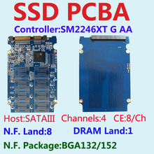 SM2246XT G AA Controller SSD PCBA KITS,SSD DIY Kits ,Flash Interface BGA152/132 , SATA6Gb/s Interface ,SM2246GX ,4CH 8CE 8-LAND