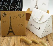 12.13 Yan 10 Pcs Butterfly Design Kraft Cardboard Box,Small Wedding Favor Candy Gift Box,DIY Gift Packing Box For Guest