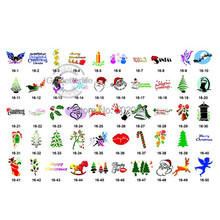 Christmas Design book -New Temporary airbrush tattoo Stencil book For Christmas Template 16 freeshipping airbrush tattoo supply(China)