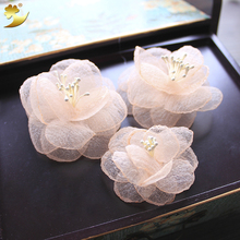 Small Flower Hair Clips For Women Wedding Accessories Hair Ornaments Bride Hairgrips Simple Handmade Floral Barrette Hairclips(China)
