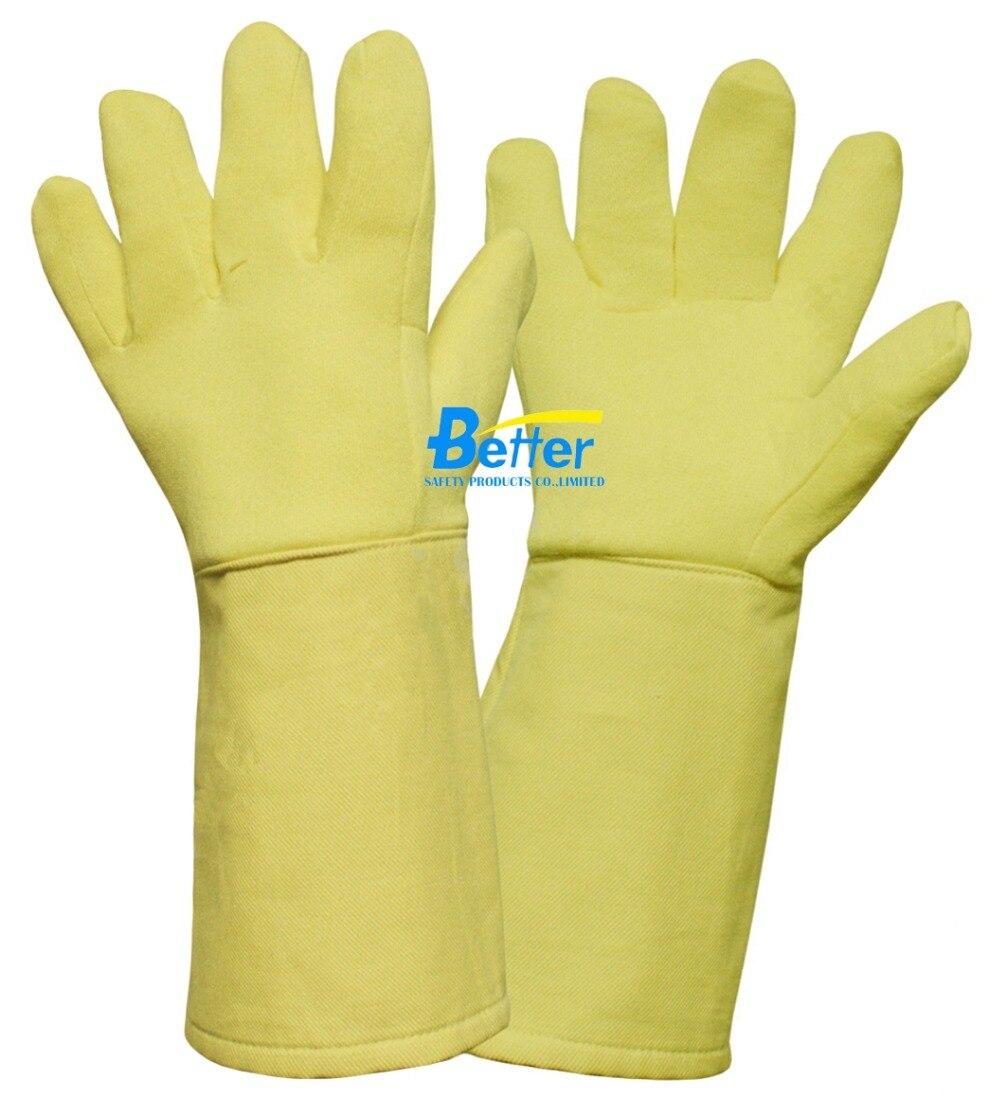 500 Centigrade degree 100% Aramid Fiber 932 Fahrenheit Heat Resistant  Work Gloves<br>
