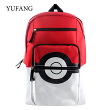 Pokemon Cartoon Teenager's Nylon Backpack For Boys Girls Pokeball Children School Backpacks Rucksack Should Bag Kid Gift Bag