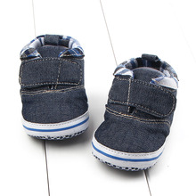 Promotion 1pair Classic Brand Shoes Baby First Walker, Infant Girl Shoes, England Style Newborn soft shoes,footwear(China)