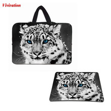 "Top Selling Computer Bag 17 14 13 12 13.3 15 10 10.1 17.3"" Carry Handle Notebook Case Bags & Gaming Mouse Pad Animal Printing"