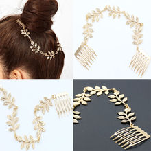 Women Girls Metal Rhinestone Head Chain Crystal HeadBand Hairband Xmas Gift(China)