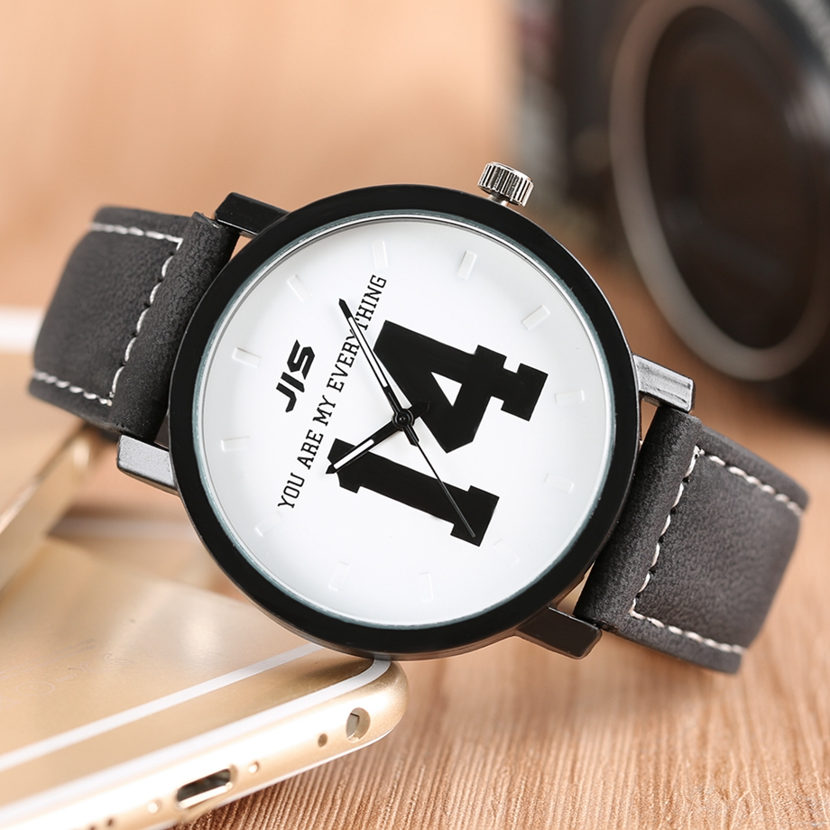 YOU ARE MY EVERYTHING Series Men Watch JIS Unique Number 1314 Quartz Wristwatch Young People Fashion Dress Clock Male Ulzzang 2018 (22)