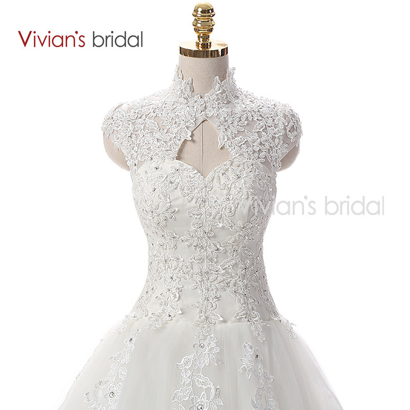 Vivian\'s Bridal A Line Lace Tulle Wedding Dresses 2 (1)