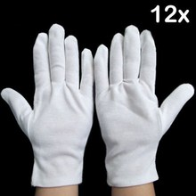 12 Pairs White Cotton General Purpose Moisturising Lining Gloves Health Work Safety Glove  Security Protection