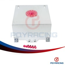 PQY STORE- 10 GALLON/37.8L RACING ALUMINUM GAS FUEL CELL TANK WITH BILLET RED CAP AN10 FUEL SURGE TANK  PQY- TK71