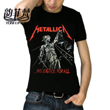 Metallica T-Shirt Men Women Skull Printing Heavy Metal Rock T Shirts O Neck Tops Tee Famous Rock Band Short Sleeved Cotton Tees
