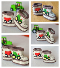 Crochet Baby Booties in Three Sizes:9cm 10cm 11cm Handmade Crochet Baby Shoes Pattern
