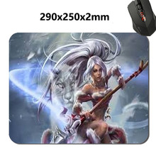 180*220*2mm &290*250*2mm Snow Bunny Nidalee League laptop print Rubber Soft gaming padmouse gamer of Legends keyboard mouse mats