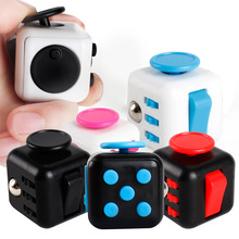 Mini Fidget Cube Finger Toys Squeeze Magic Cube Anti Reliever Gift Fun Stress Reliever 3.3cm High Quality Antistress Cubes FS463