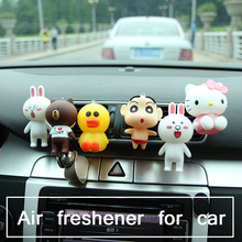 Car air freshener perfume smell scent line bronw bear vent clip fragrance air freshener for car