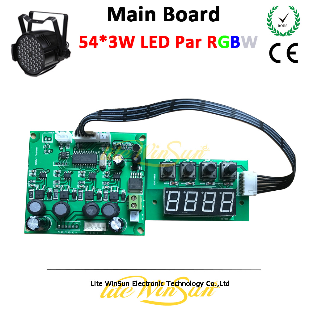Litewinsune Stage Light LED Par Can Main Board RGBW 4in1 8 Channel 18x3w 54x3w Par Program Board 24V 36V Voltage<br>