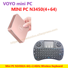 VOYO VMac Mini PC V1 Windows 10 Pocket PC (4GB RAM+64GB SSD) Intel Lake Apollo N3450+Wireless Keyboard=N3450 KIT-E-A