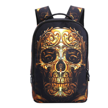 fashion European and American Halloween backpack men women personalized Street prints student school bags odd skull travel bag(China)