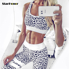 Leopard Digital Printed Sports Suit Fitness Tracksuit Women Running Yoga Set Female Sports Bra Leggings Gym Clothing Sport Suit(China)