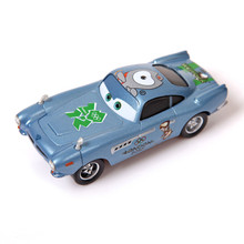 Pixar Cars Finn McMissile Diecast Metal Toy Car Green Paralympic Emblem London 2012 Alloy Car Toy 1:55 Loose For Kid