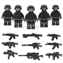 5pcs/lot SWAT Ghost Soldier Military Figure Gun Building Blocks Sets Models Bricks Toys(China)