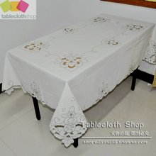 Handmade embroidered 100 cotton table cloth/vintage tablecloth