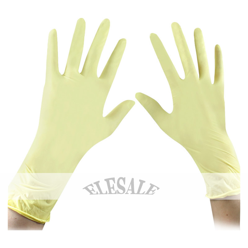 100Pcs/50Pair Disposable Latex Gloves Medical Laboratory Food Process Clean Tatto Rubber Protective Gloves S/M/L Size 9Inch<br><br>Aliexpress