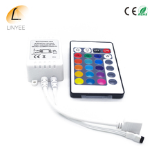Good Quality LED IR Controller 12V 6A 24 Keys IR Remote Controllers for 3528 5050 RGB LED Strip Lights with tracking number(China)