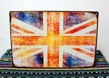 RO-0307 about the union jack vintage metal signs decorative plates wall art craft handicraft home decor bar 20X30cm