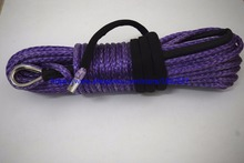 Good Quality 10mm*30m Purple 12plait Synthetic Winch Rope, Winch Cable 10mm,Boat Winch Rope,Towing Rope