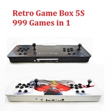 Retro Game Box 5S Arcade Console 2P Controller 999 Games in 1 HDMI VGA Output for TV PC Home Use Arcade Machine(China)