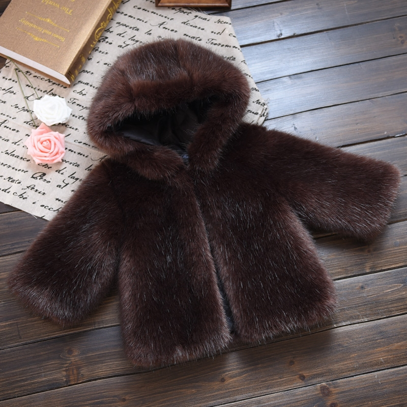 High Quality! Boy Faux Fur Coats kid Winter Jackets Faux Mink Fur Girls Warm Fox Fur Coats Kid Toddler Fur Clothes sweatshirts <br>