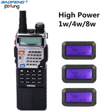 BAOFENG UV-5RE8W High Power 8W Tri 1w/4w/8w with 3 Pieces Antenna with with 3800mAh Battery Dual Band Walkie Talkie