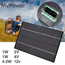 MVpower 1W 2V 4V Solar Panel Charging Board for AA Battery Charger High Quality Polycrystalline Silicon Material Power Bank(China)